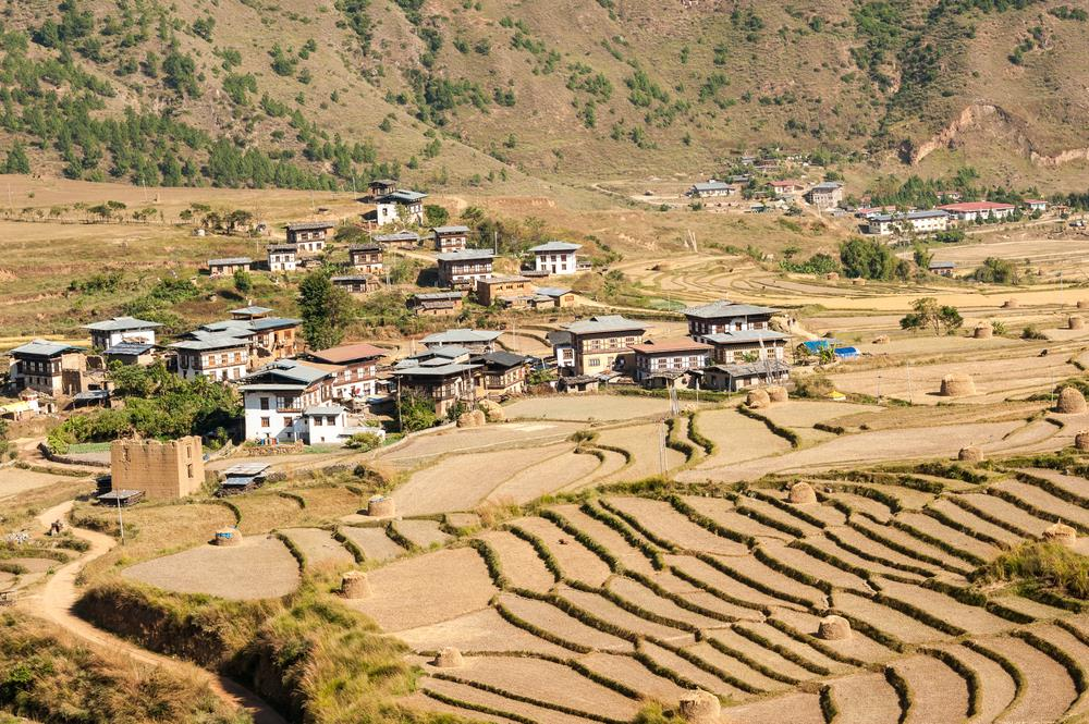Zona rurala in Bhutan