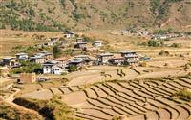 Zona rurala in Bhutan